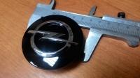 Крышка литого диска OPEL Astra J, Zafira C черный лак (диаметр 59мм)