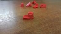 Гайка крепления кузовных элементов OPEL (красная, пластик)