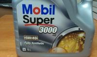 Масло моторное, MOBIL Super 3000, 5W-40, синтетическое, 4л.