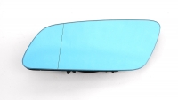 Зеркальный элемент VAG AUDI A3 (01-03), A4 (99-01), A6 (98-05), A8 (99-03), RS4 (00-02) с обогревом, голубое L