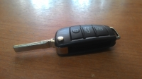 Ключ замка зажигания VAG (заготовка) AUDI A3 A4 A6 Q7 TT (раскладной, три кнопки)