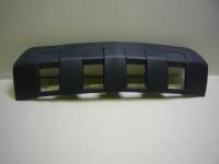 Накладка переднего бампера Шевроле Каптива (2007-2010) нижняя, черная