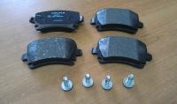 Колодки задние дисковые VAG A3,A4,A6,ALLROAD, VW Golf 5,6, Jetta III, Octavia, SUPERB, YETI, Passat B6, Tiguan, Touran, SCIROCCO 1.4-3.6 04->
