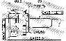ШРУС наружный Hyundai ELANTRA, Lavita, Matrix 1.6 (2000-2006)  с АБС 30x50x25