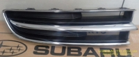 Решетка переднего бампера Субару Трибека (2005-2014), хром, R