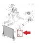 Патрубок интеркулера Антара, Шевроле Каптива 2.2 (2011-2017) выпускной, резиновый, нижний